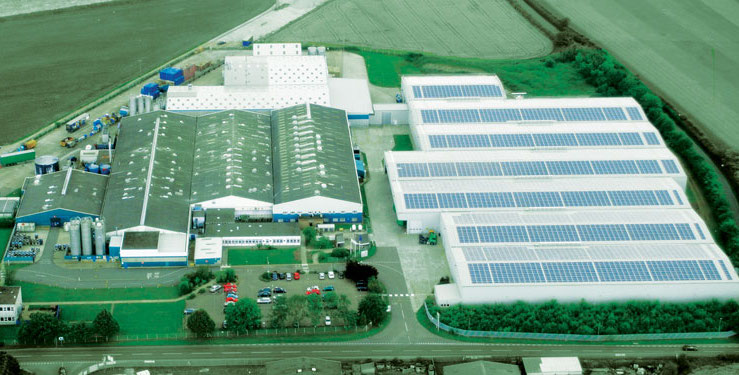 RPC M&H Plastics, Ellough lighting energy saving project with 74% energy and 690 tonnes CO2 saved.